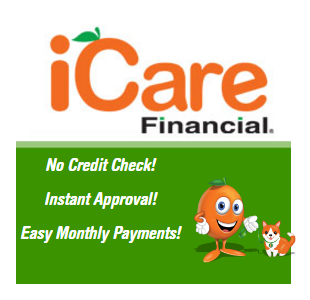 Now offering financing through iCare FInancial!